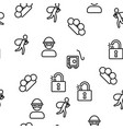 robber crime seamless pattern vector image vector image