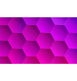 saturated magenta and pink hexagonal backdrop vector image
