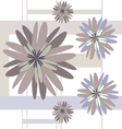 seamless pattern beige flowers vector image vector image