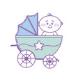 security stroller with baby child inside vector image vector image