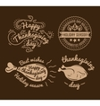 set labels design template to thanksgiving day vector image vector image