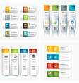 set of infographic templates vector image vector image