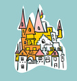 sketch Royal Castle with towers Historical fantasy vector image vector image