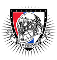slovakia ice hockey helmet shield vector image vector image