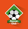 soccer club ball banner sport vector image