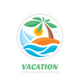 summer travel vacation logo concept vector image