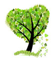 tree with leafs shaped as a heart icon vector image