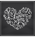 Valentines Day Blackboard background vector image