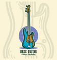 vintage slogan typography bass guitar for t shirt vector image