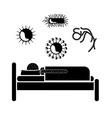 Virus design vector image