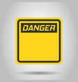 warning sign icon in flat style danger alarm on vector image vector image