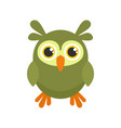 wild owl icon flat style vector image vector image