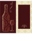 Wino menu card vector image