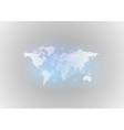 world map gray blue vector image vector image