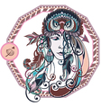 Zodiac of the girl vector image