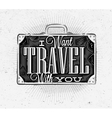 Tourist poster suitcase vector image