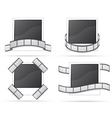 set photo and filmstripe icons vector image
