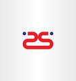 25 twenty five number red logo icon vector image vector image