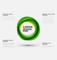 abstract green circles vector image vector image