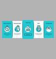 adventure onboarding elements icons set vector image vector image