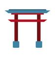asian arch building symbol vector image vector image