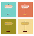assembly flat icons hospital sign vector image vector image
