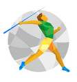 athlete throwing the javelin vector image vector image