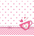 baby shower with cup vector image vector image