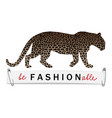 be fashionable t-shirt print with leopard vector image vector image
