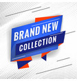 brand new collection promotional concept template vector image vector image
