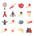 Charity flat icons vector image