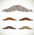 Classic retro thin mustache set vector image vector image