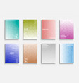 collection colorful gradient abstract covers vector image