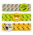 colorful halloween horizontal banners vector image vector image