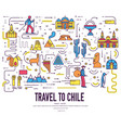 country chili travel vacation infographic of place vector image