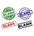 damaged textured blank stamp seals vector image vector image