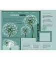 dandelion forest vector image