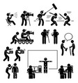 director making filming movie production actor vector image vector image