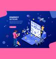 energy network design vector image