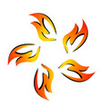 fire flame together symbol vector image