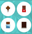 flat icon sweet set of dessert delicious bitter vector image vector image