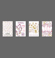 floral summer journaling cards vector image vector image