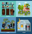 funeral services icon set vector image