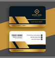 geometric golden premium business card design vector image vector image