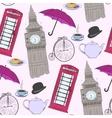hand drawn London pattern vector image vector image