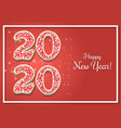 happy new year 2020 greeting card template vector image vector image