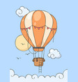 hot air balloon in sky poster for baby room vector image