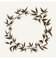 Ink paint bamboo frame vector image