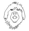 isolated english sheepdog avatar vector image vector image