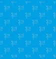 jolly roger pattern seamless blue vector image vector image
